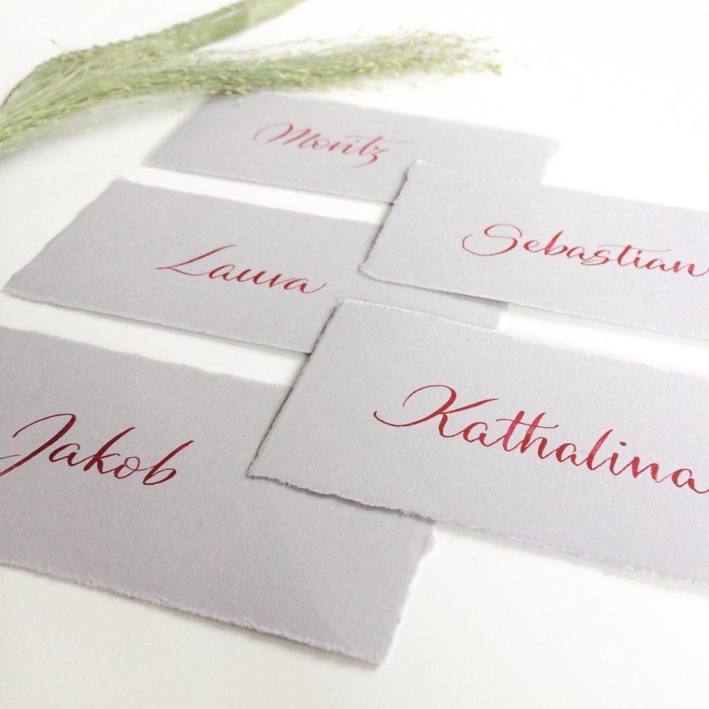 Platzkarten Kalligrafie