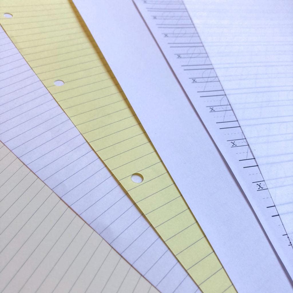 Kalligrafie lernen Material Papier