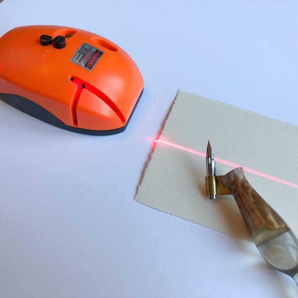 Kalligrafie lernen Material Laserlineal