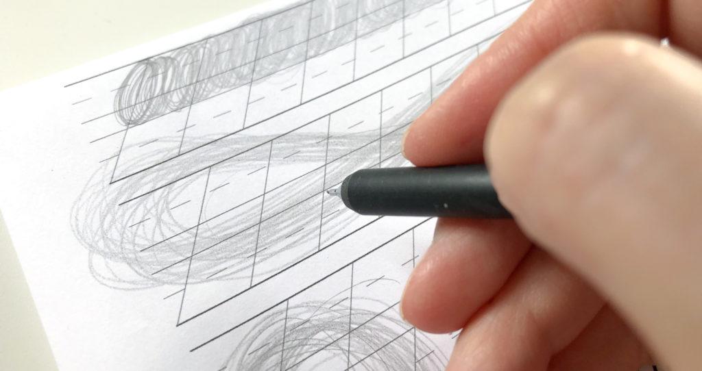 Kalligrafie lernen. Teil 2: Aufwärmübungen